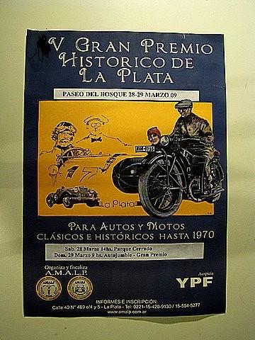 Carrera motos clasicas La Plata