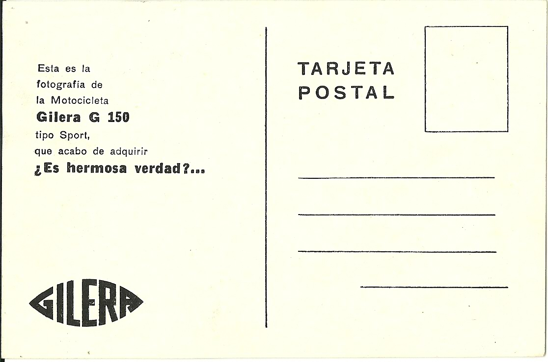 POSTAL Gilera
