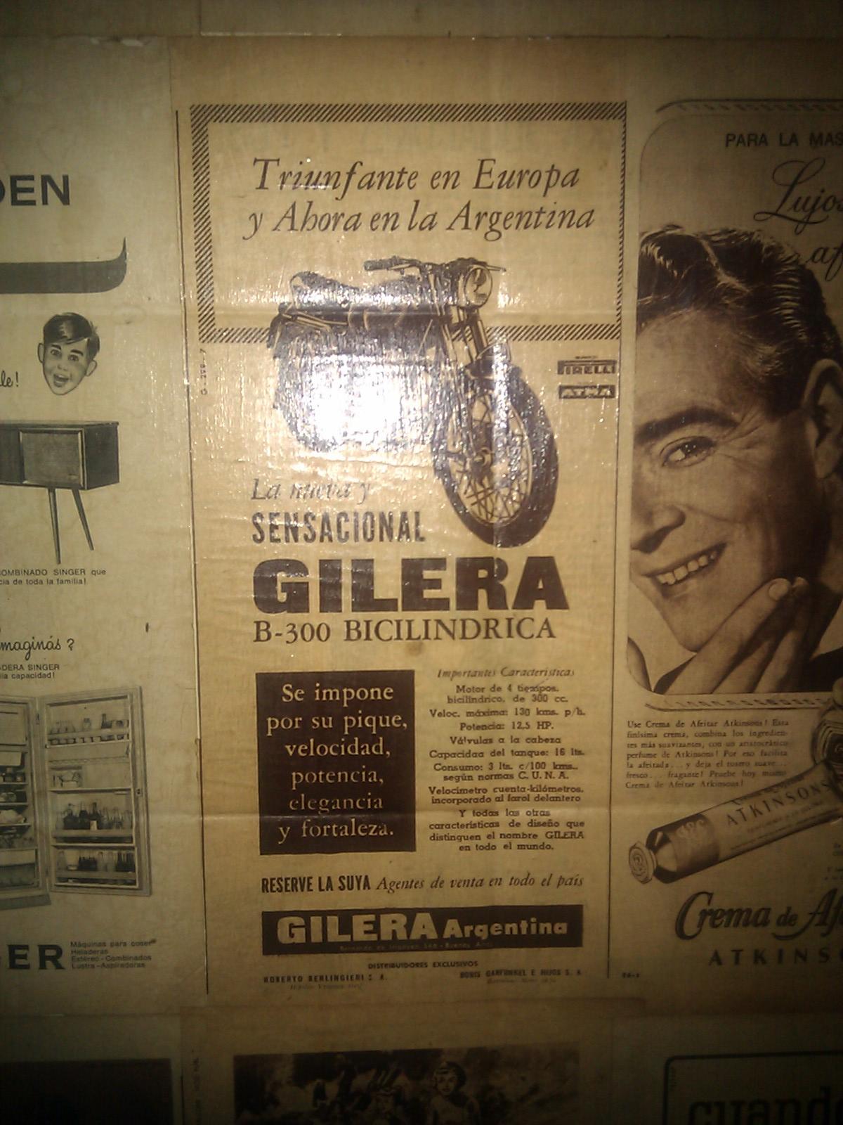 Publicidad Gilera