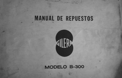 Gilera B300 Manual De Repuestos
